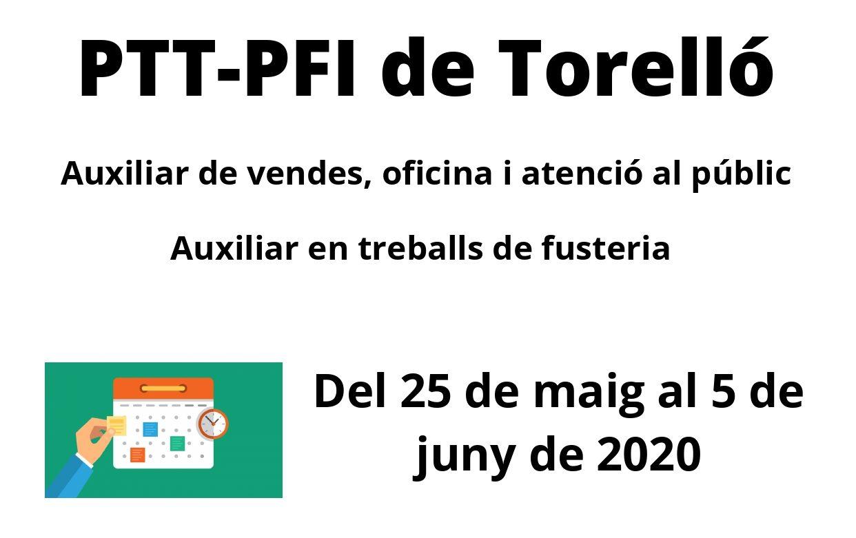 Del 25 de maig al 5 de juny, preinscripció per al Pla de Transició al Treball