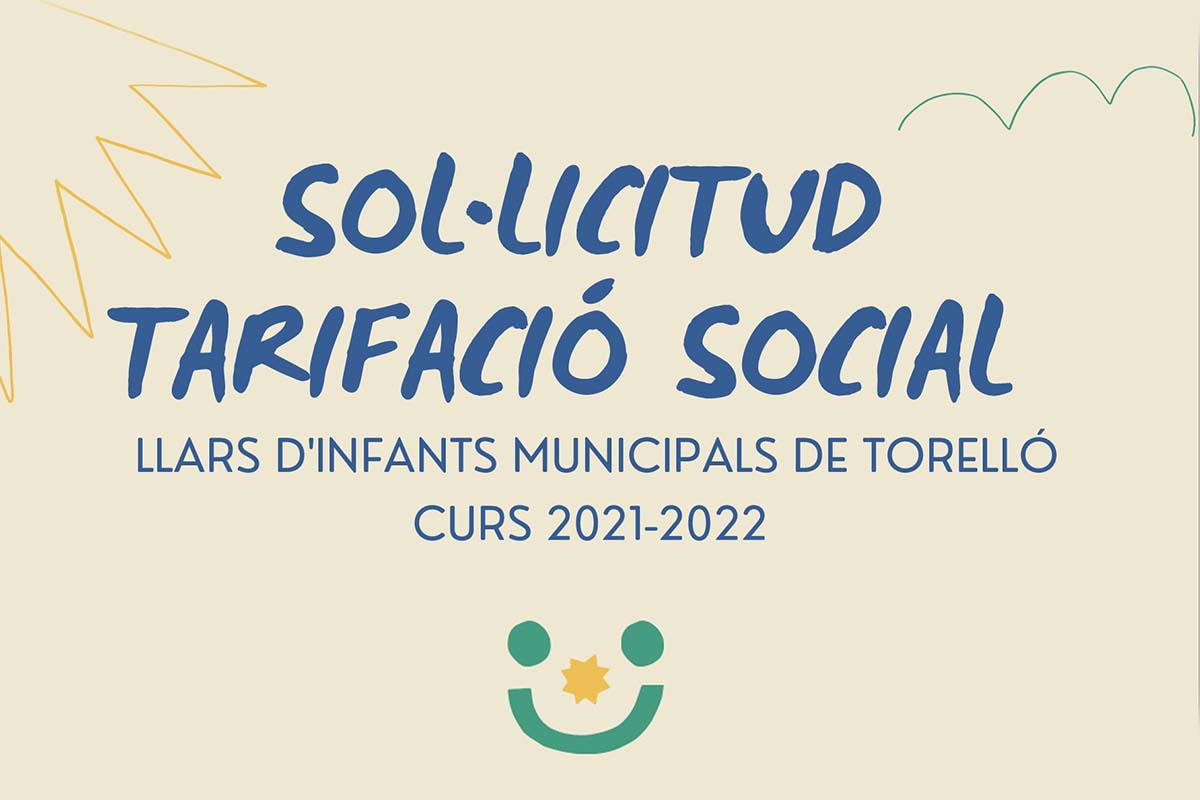 Sol·licitud tarifació social Llars d'infants municipals de Torelló