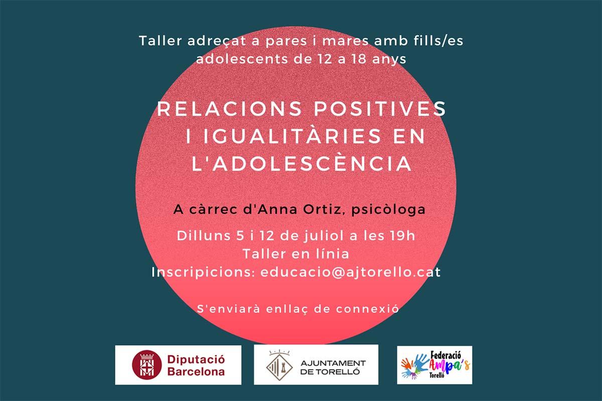 Relacions positives i igualitàries en l'adolescència